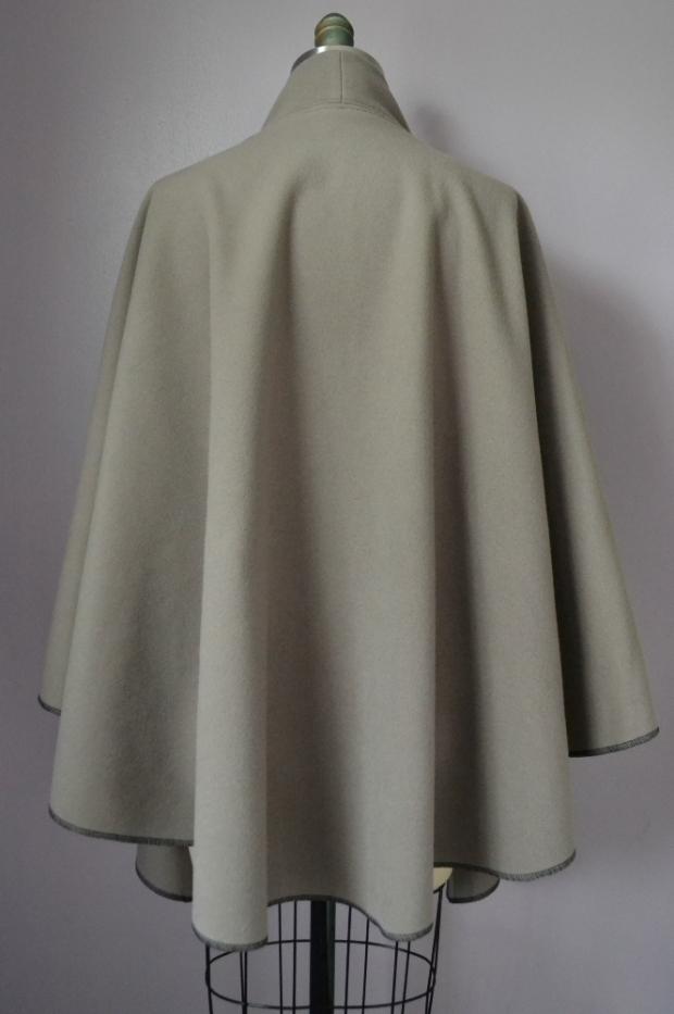 Wrap Wool Tie Cape back