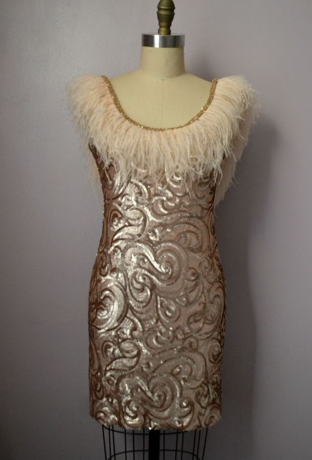 Daniela tabois feather dress 9
