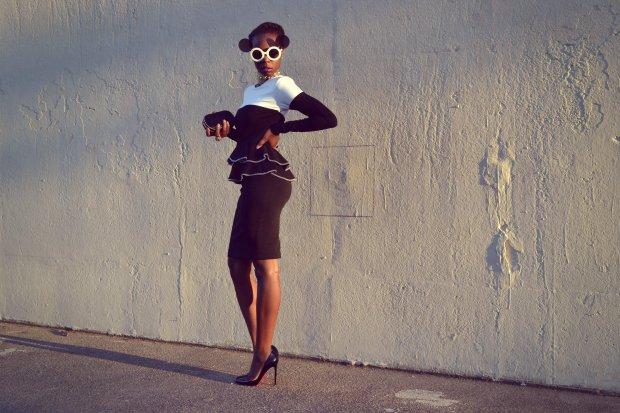 Daniela Tabois Color Block Dress1