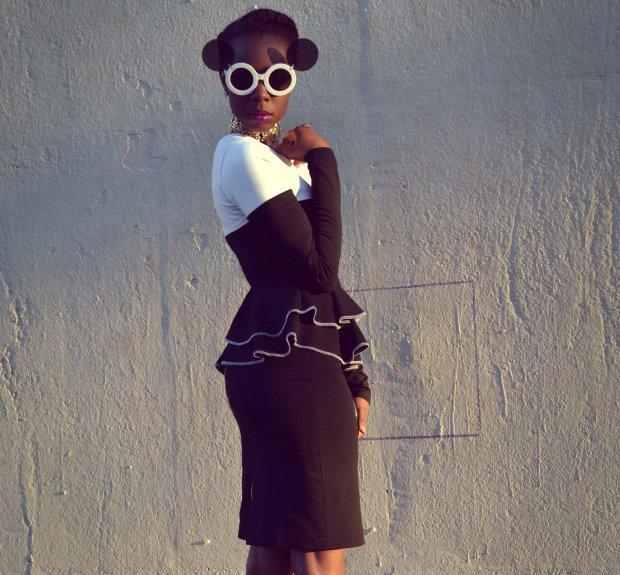 Daniela Tabois Color Block Dress2