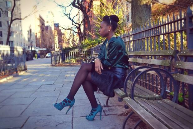 Daniela Tabois Black Fur Skirt1