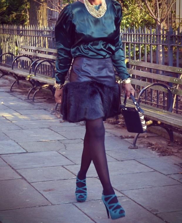 Daniela Tabois Black Fur Skirt6