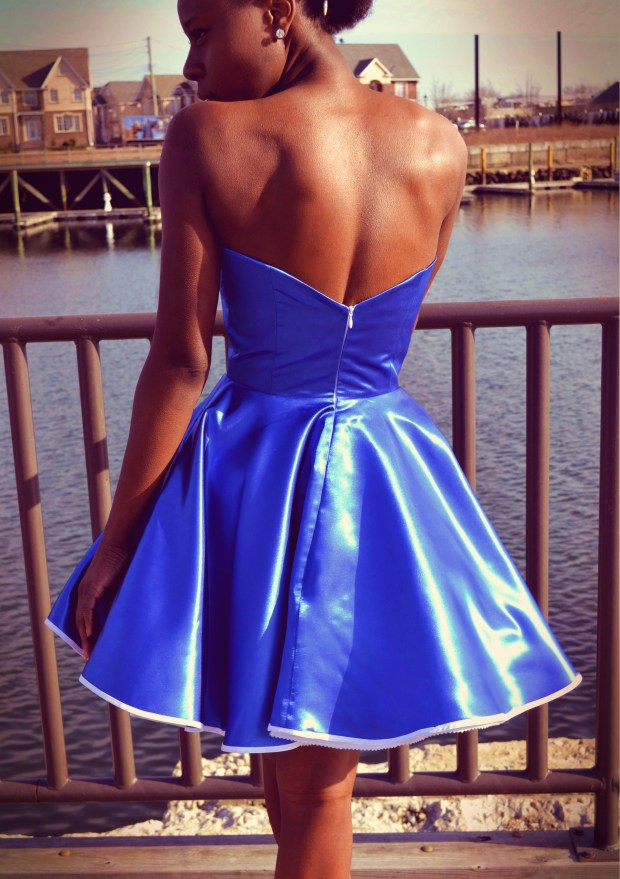 Daniela Tabois Metallic Petal Bodice Dress6