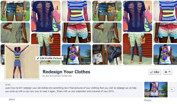 Daniela Tabois Redsign Your Clothes series facebook fanpage