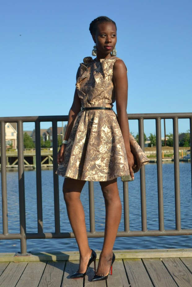 daniela Tabois Flare borade flare dress 1