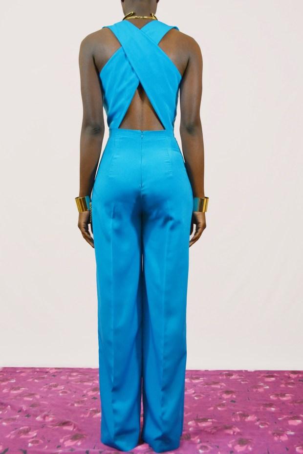 Daniela Tabois Blue Wide leg Jumpsuit2
