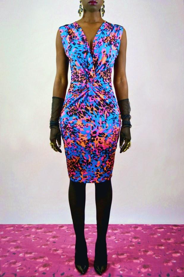 Daniela Tabois Leopard Print Dress
