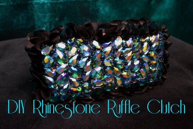 Daniela Tabois DIY DIY Rhinestone Ruffle Clutch 1