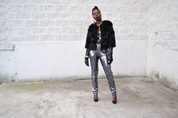 Daniela Tabois Leopard Print Sequin Jumpsuit1