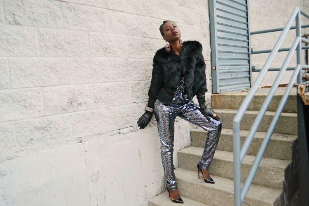 Daniela Tabois Leopard Print Sequin Jumpsuit4