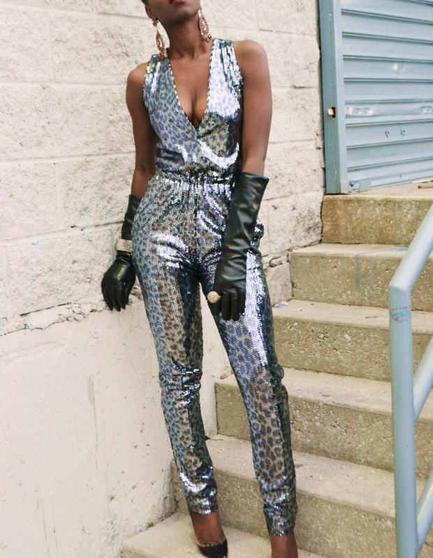 Daniela Tabois Leopard Print Sequin Jumpsuit6