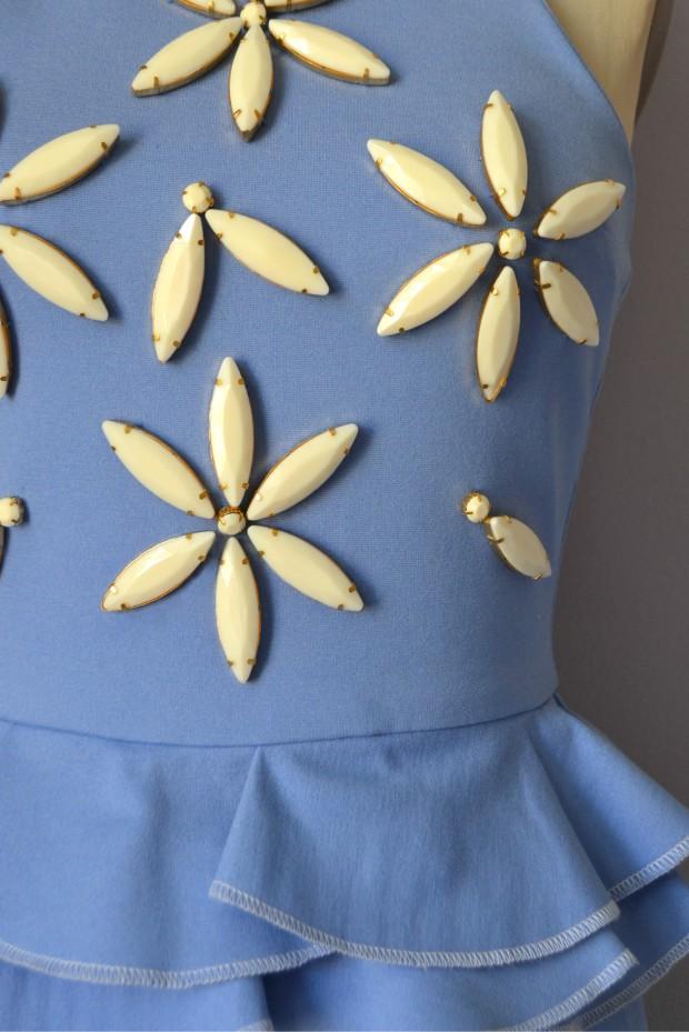 Daniela Tabois Daisy Embellish Peplum dress Detail