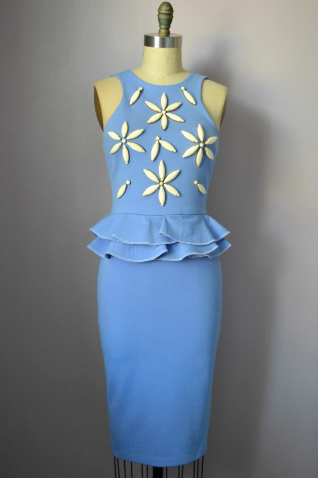 Daniela Tabois Daisy Embellish Peplum dress Front
