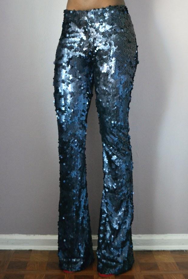 Daniela Tabois Navy Sequin Pants Front