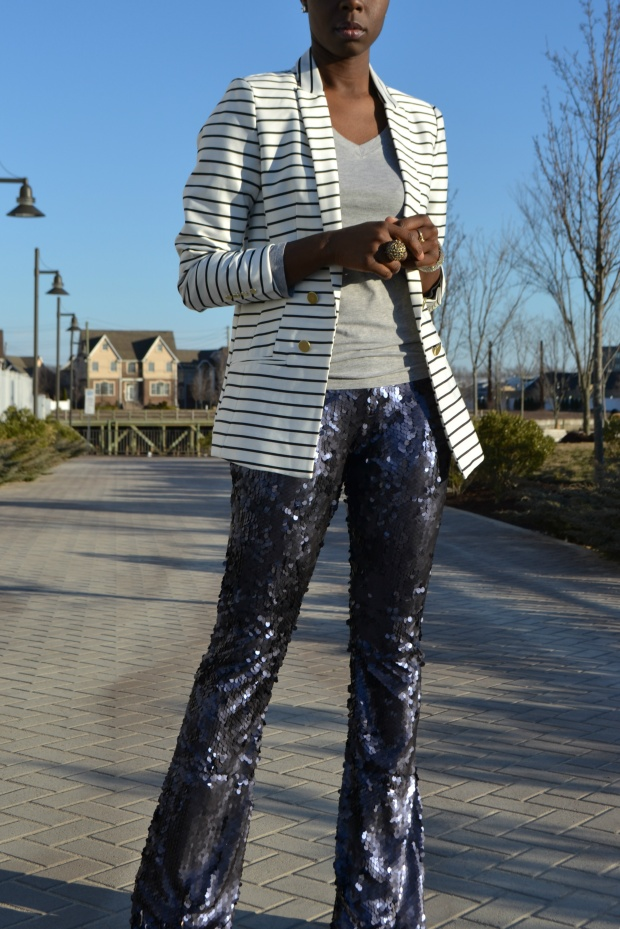Daniela Tabois Navy Sequin Pants Style 11