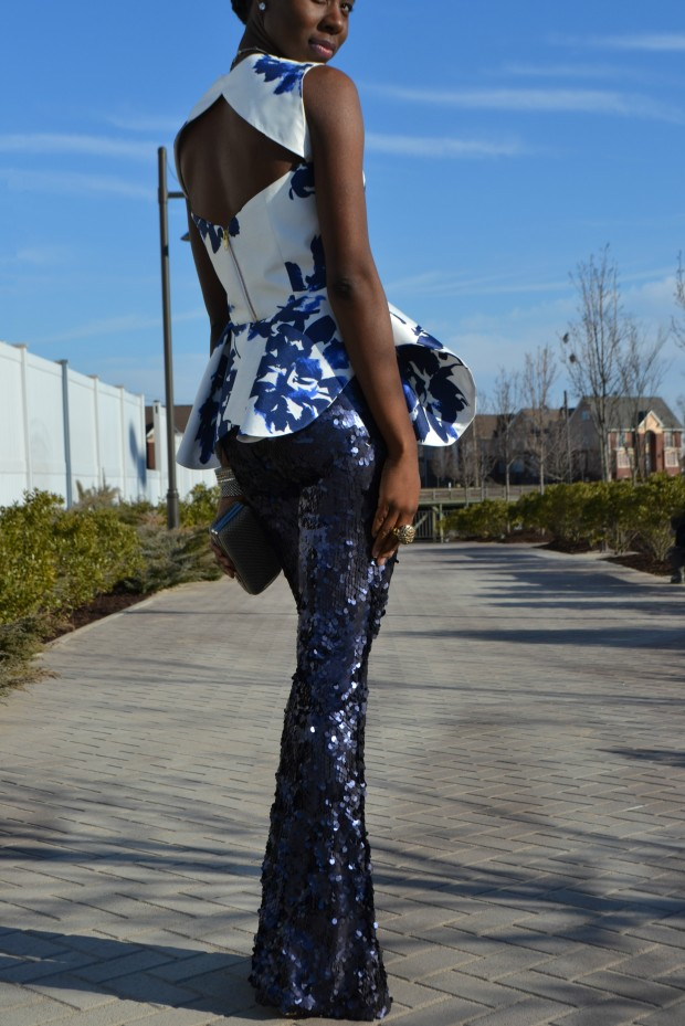 Daniela Tabois Navy Sequin Pants Style 3