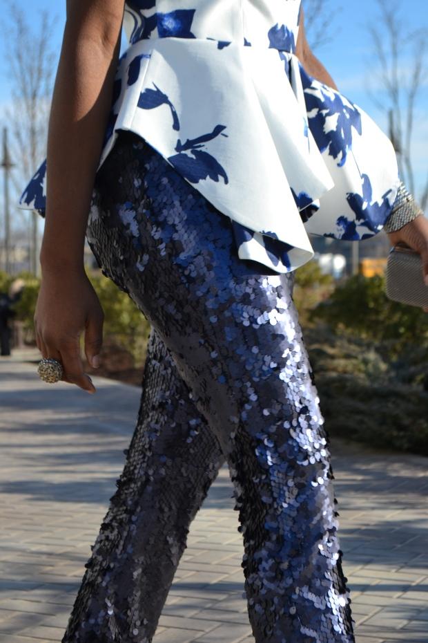 Daniela Tabois Navy Sequin Pants Style 5