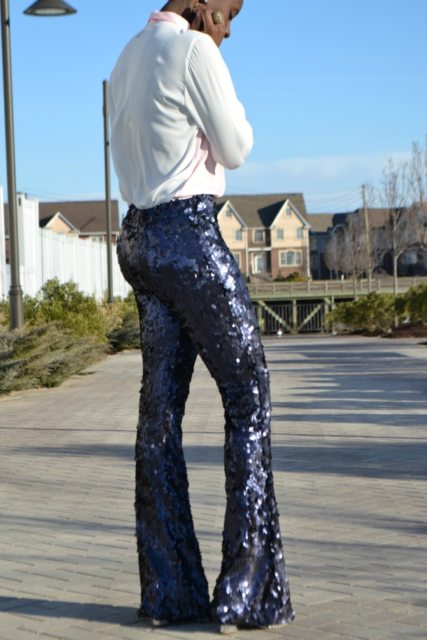Daniela Tabois Navy Sequin Pants Style 6