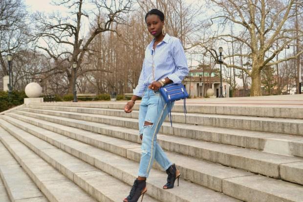 DanielaTabois DIY Pearl Chain Rip Boyfriend Jeans 10