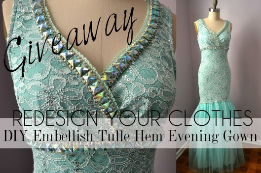 Daniela Tabois DIY Embellish Tulle Gown 4