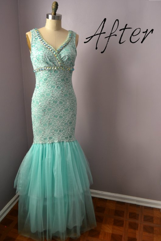 Daniela Tabois DIY Embellish Tulle Gown after