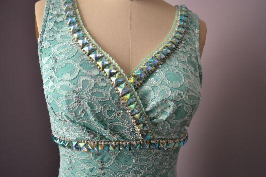 Daniela Tabois DIY Embellish Tulle Gown details neck