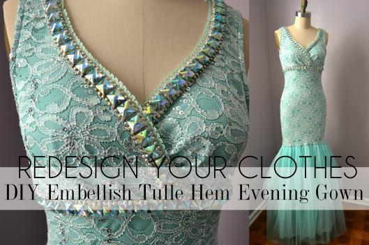 Daniela Tabois DIY Embellish Tulle Gown3